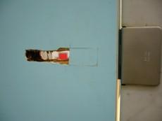 店舗のドア補修