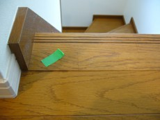 階段框の段差補修