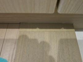 玄関框継ぎ目補修