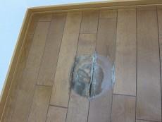 お湯による床のふやけ