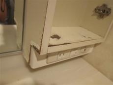 既存洗面台収納の補修です