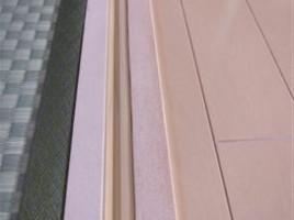 白木の敷居 単板剥がれ補修