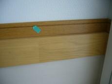付け框の段差と木目補修