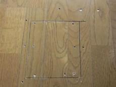 床鳴り跡補修