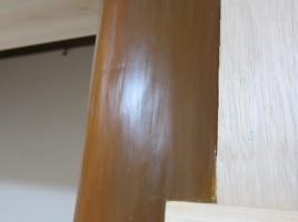 リフォーム物件 床柱穴埋め補修