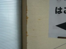 商業ビル改装工事に付随するキズ補修