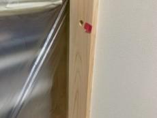 和室白木の単板貼り
