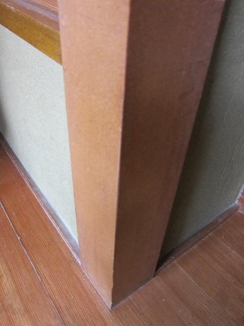 柱・廻り子のシミ 犬のかじり跡補修
