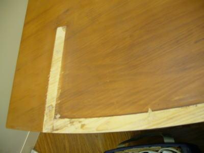 展示テーブル補修