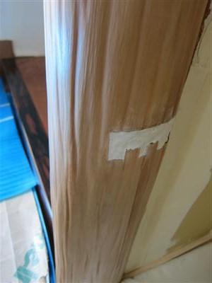 床柱補修工事
