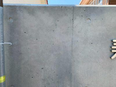 壁面サインの撤去跡
